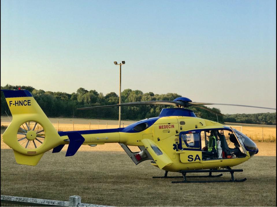 Le blessé a été évacué à bord de l'hélicoptère du SAMU76 - Illustration @ InfoNormandie