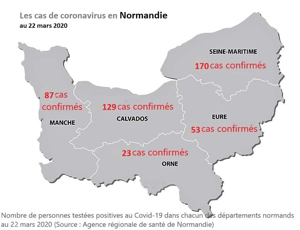 Coronavirus : deux personnes âgées décédées en Seine-Maritime, ce qui porte à 9 le nombre de morts en Normandie