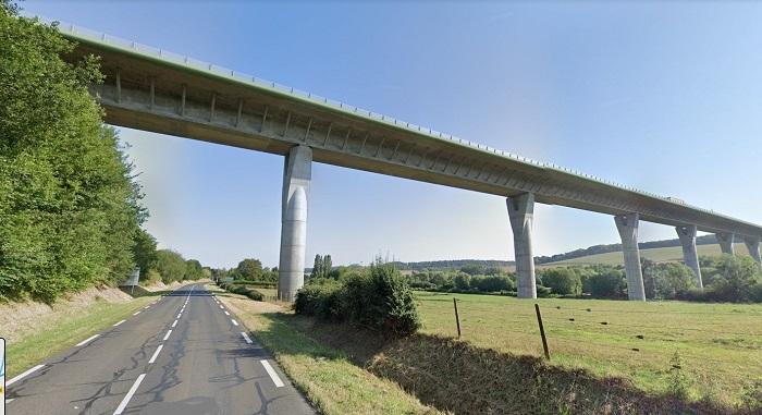 Le corps a été découvert au pied du viaduc de la Bresle peu après 13 heures - Illustration