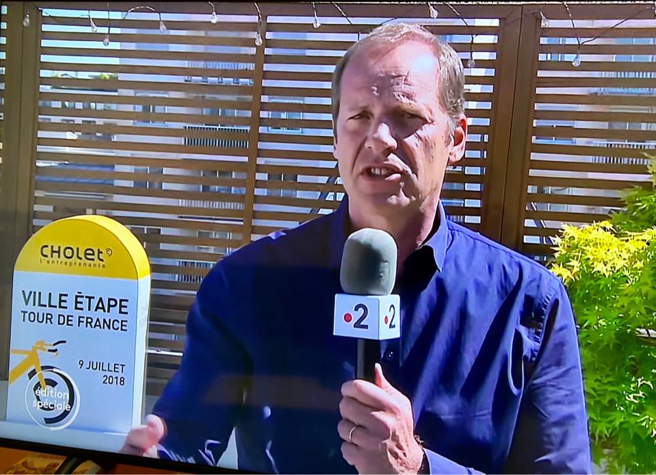 Christian Prudhomme ce midi dans le journal de France 2 - Capture d'écran