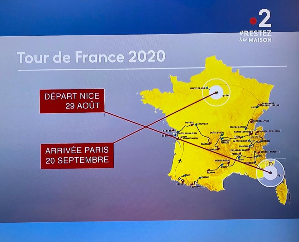 Le Tour de France cycliste aura lieu du 29 août au 20 septembre, à cause de la crise sanitaire