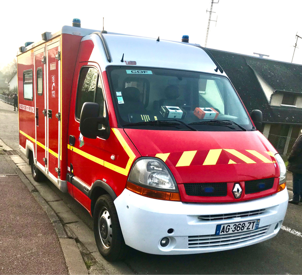 Le blessé a été conduit au CHU de Rouen par les sapeurs-pompiers - illustration @ infoNormandie