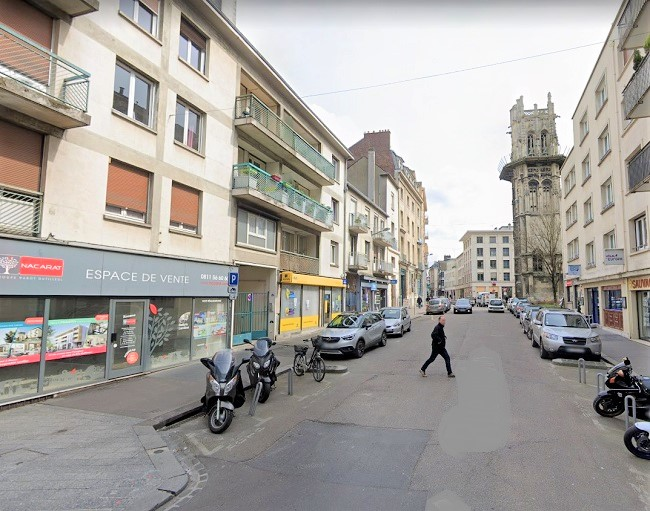 La rue aux Ours, dans le centre ancien de Rouen  illustration © Google Maps