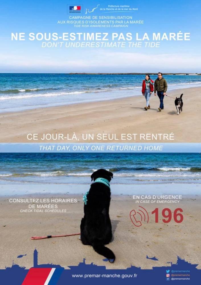 Seine-Maritime : deux promeneurs britanniques pris au piège de la marée au Trou à l'homme
