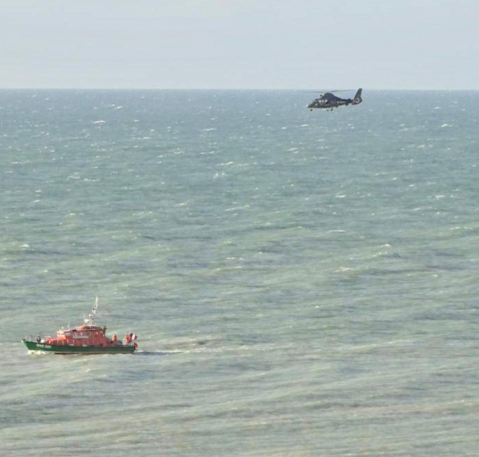 Les recherches n'ont pas permis de retrouver le jeune garçon disparu en mer depuis hier soir - photo @ Prémar/Twitter