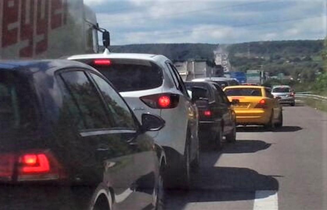 Plus d'une vingtaine de kilomètres de bouchon a été constatée en milieu d'après-midi sur l'autoroute A13 en direction de la Normandie - Illustration