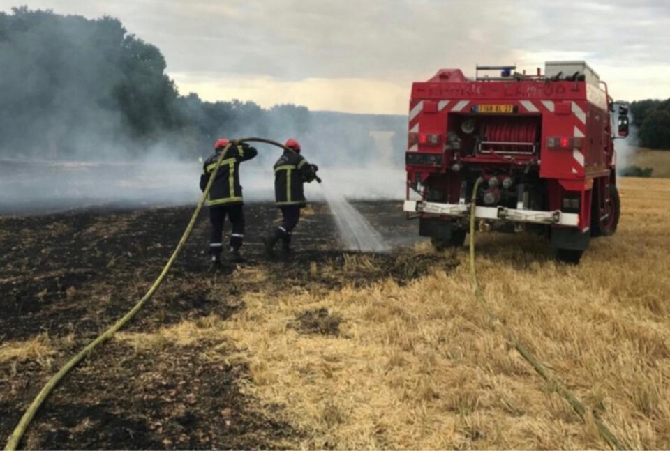 A Écardenville-la-Campagne, l'intervention des sapeurs-pompiers a permis de préserver une entreprise et deux maisons menacées par les flammes - illustration