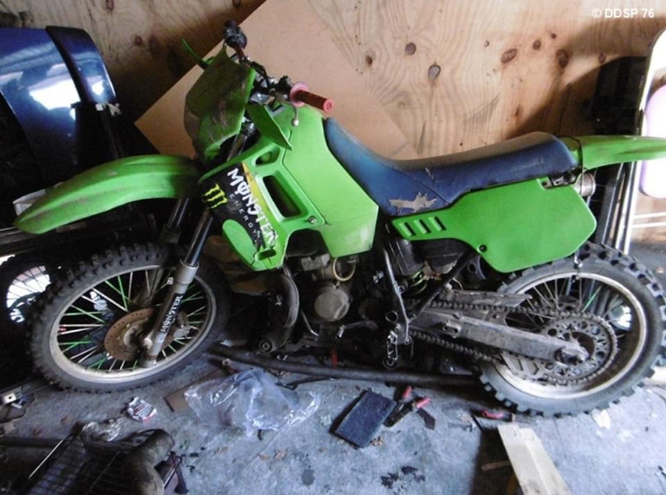 Une des trois motos confisquées avait été identifiée lors de rodéos urbains - Photo @ DDSP76