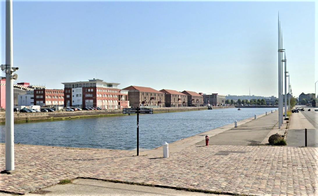 Le bassin Paul-Vatine, au Havre - Illustration