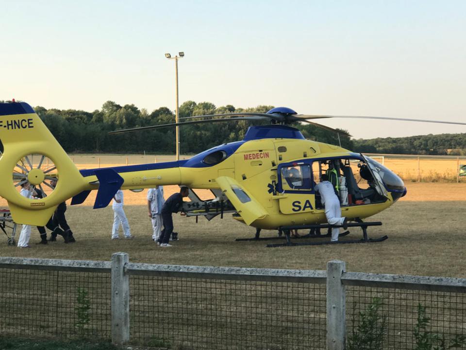 La victime a été évacuée vers le CHU de Rouen à bord de l'hélicoptère du SAMU76 - Illustration @ infoNormandie