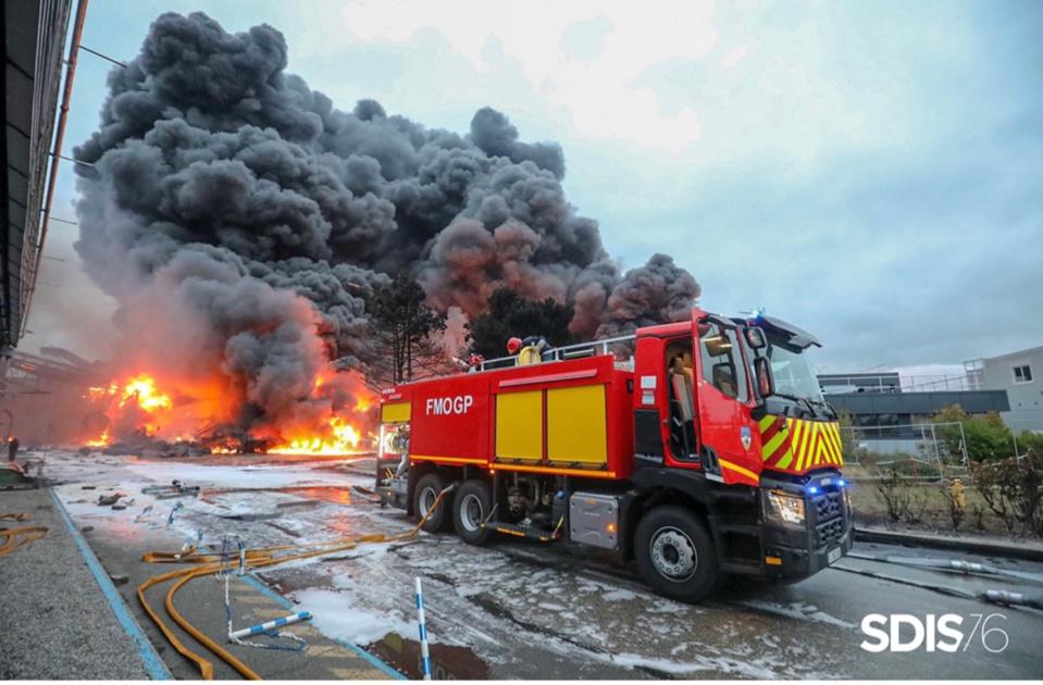 L'incendie de Lubrizol a été vécue comme une véritable catastrophe - illustration @ Sdis76