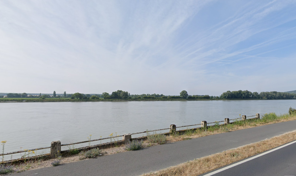 Le corps dérivait en Seine à hauteur de la commune de Villequier - Illustration © Google Maps
