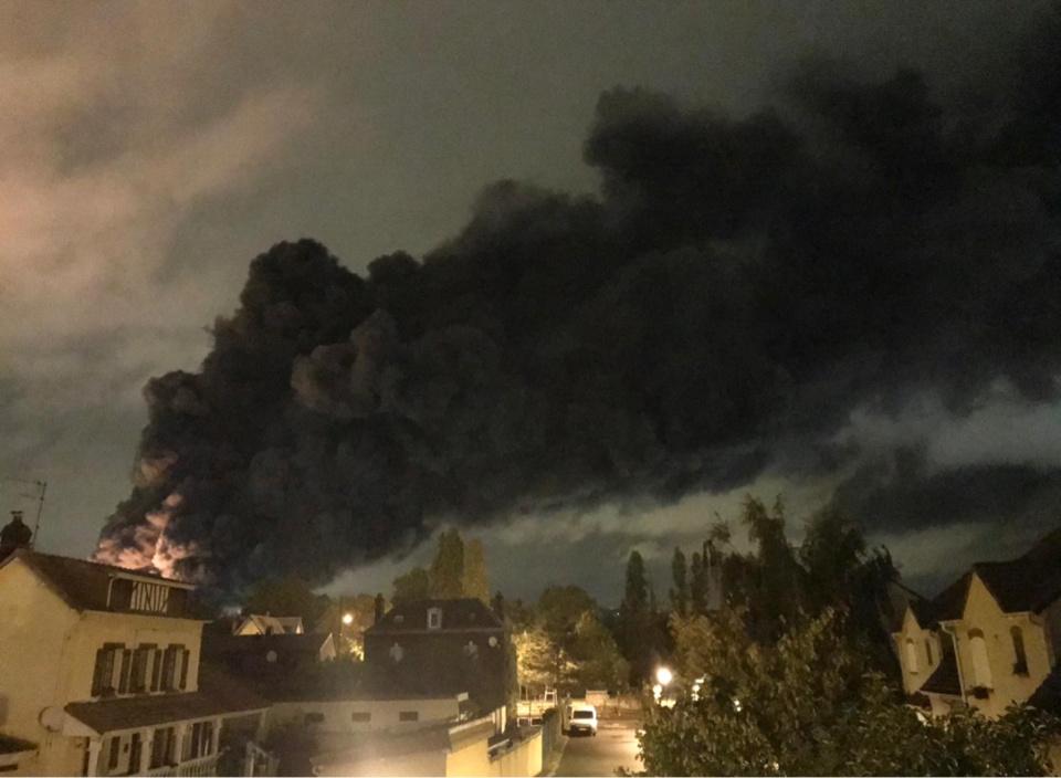 L'incendie dans l'usine Lubrizol il y a un an à Rouen a été vécue comme une véritable catastrophe - Photo © infoNormandie