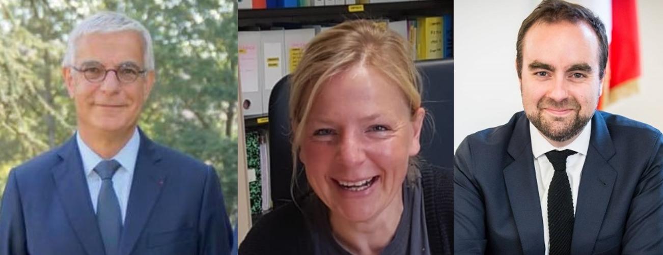 Les trois élus : Hervé Maurey, Kristina Pluchet et Sébastien Lecornu ( Photos © Facebook)