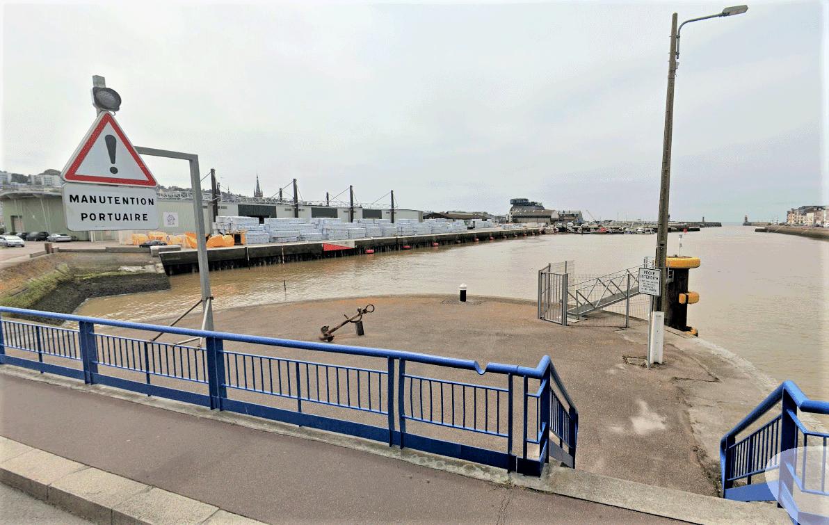 Les migrants voulaient rejoindre l'Angleterre via le bateau - Illustration © Google Maps
