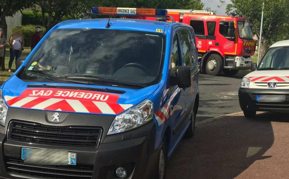 Les sapeurs-pompiers ont mis en place un périmètre de sécurité - Illustration © infoNormandie