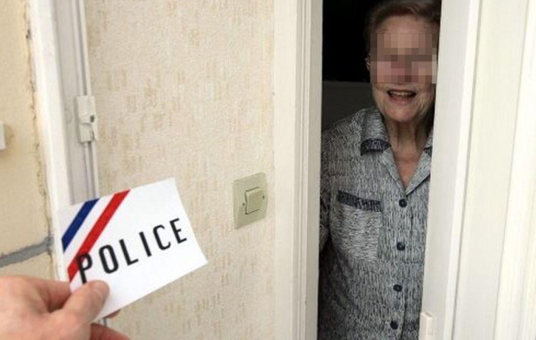Le comportement des deux hommes et leur fausse carte de police n'ont pas convaincu  l'octogénaire qui a refusé de les laisser entrer chez elle - Illustration