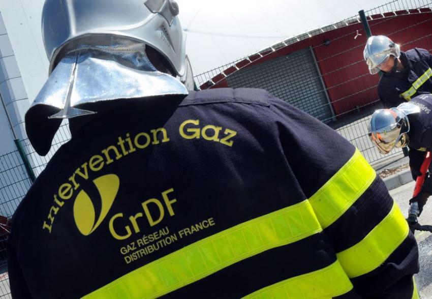 Les techniciens de GrDF ont colmaté la fuite par écrasement de la conduite - Illustration
