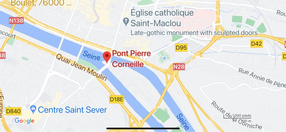 Rouen : les quais bas fermés après un éboulement au niveau du pont Corneille (rive droite)