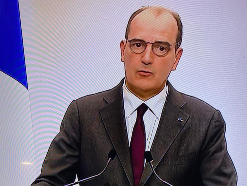 Jean Castex lors de sa conférence de presse ce jeudi - capture d'écran