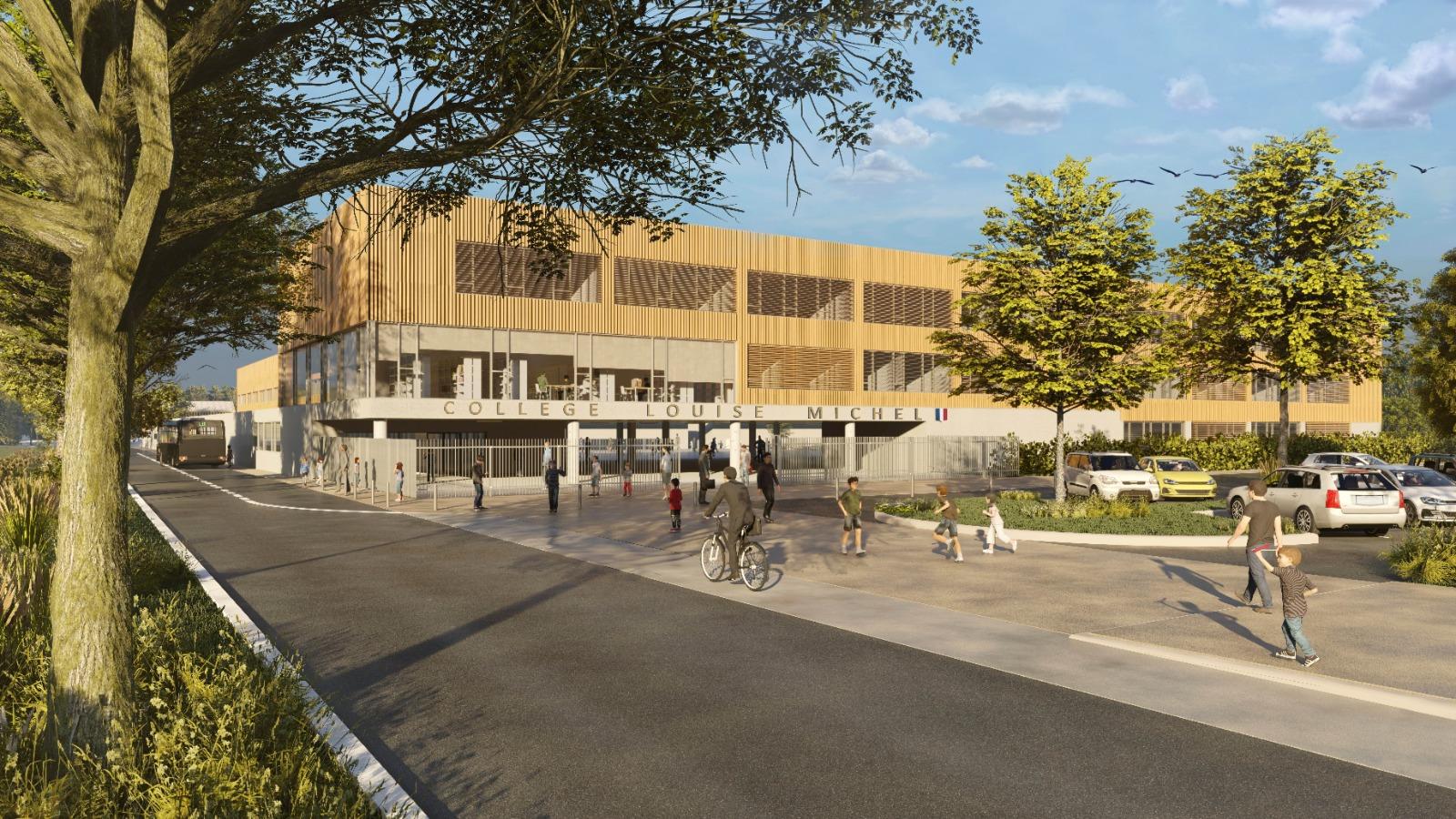 Le nouveau collège aura une surface de 9195.80m² - Illustration @ CD27