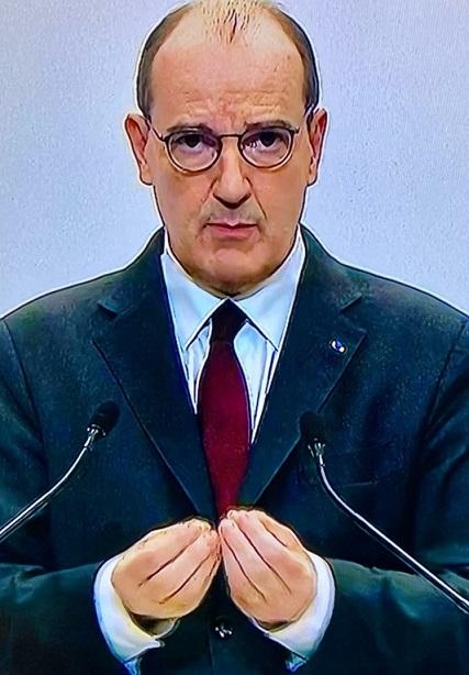Jean Castex cet après-midi lors de sa conférence de presse - capture d'écran