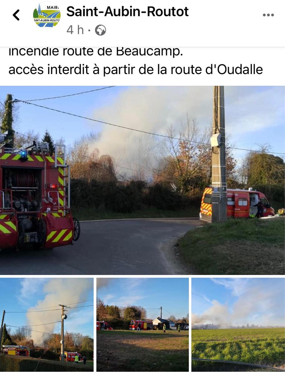 Seine-Maritime : un homme de 57 ans périt dans un incendie à Saint-Aubin-Routot