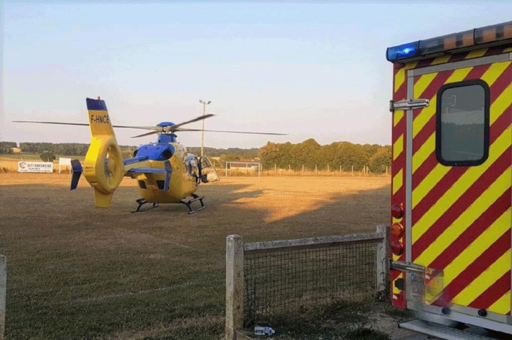 Deux équipes du SMUR (Rouen et Gisors), Viking 76 et 10 sapeurs-pompiers sont intervenus sur les lieux du drame - Illustration @ infoNormandie