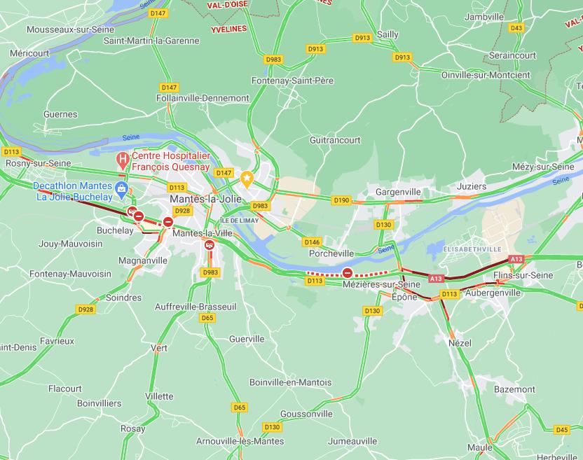🔴 Manifestations d'agriculteurs ce matin dans les Yvelines : l'A13 et la N12 fermées à la circulation