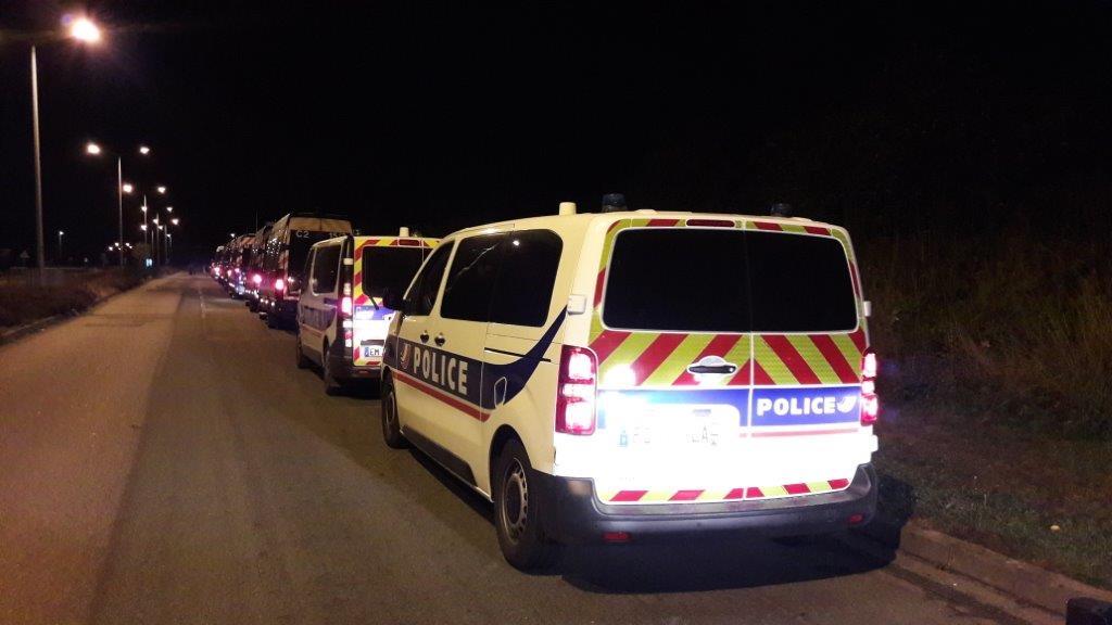 73 policiers issus d'une Compagnie d' intervention républicaine (CRS) sont mobilisés dès ce soir pour assurer la sécurisation diu quartier de La Madeleine, notamment - Illustration © DDSP76