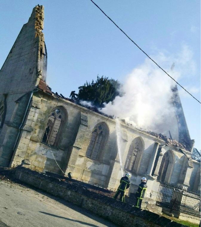 46 sapeurs-pompiers ont lutté contre l'incendie  - Photo © DR