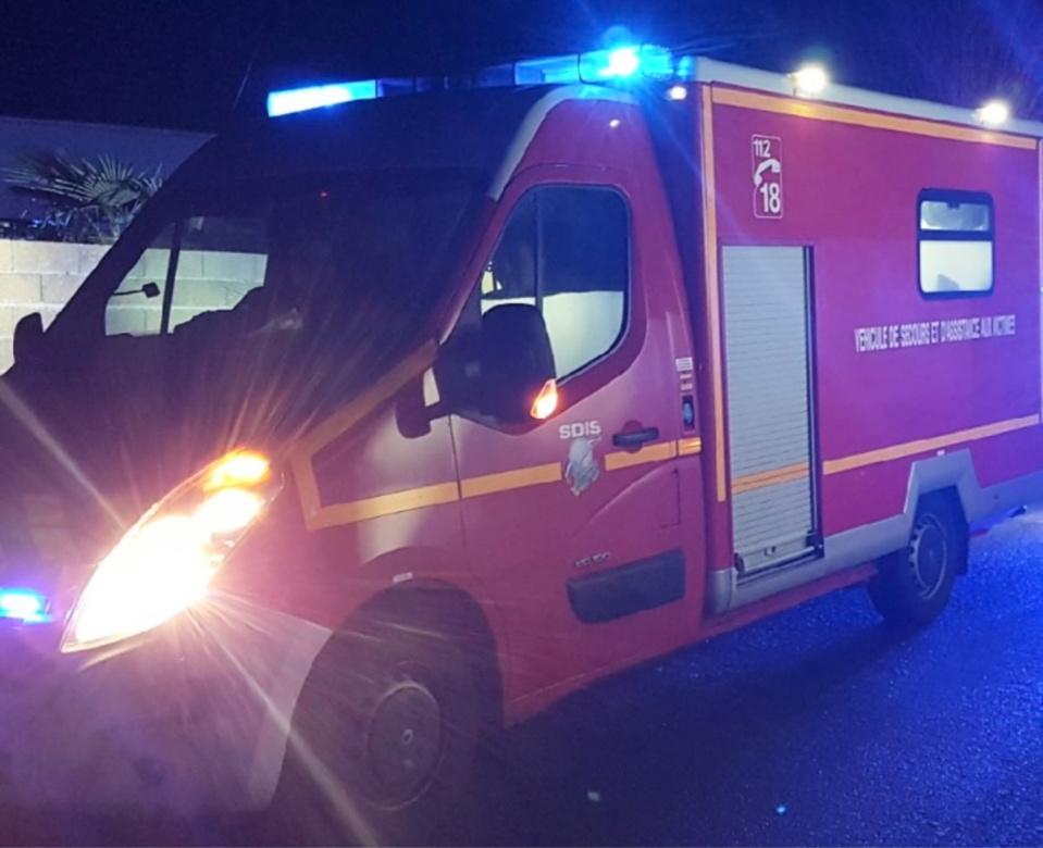 Le blessé a été transporté au CHU de Rouen par les sapeurs-pompiers de Fleury-Charleval - illustration