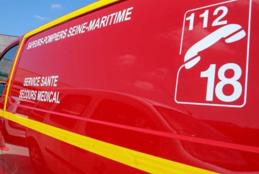 La victime a été prise en charge par les sapeurs-pompiers et transportées au CHU de Rouen, , mais elle a succombé à ses blessures - Illustration © Sdis76