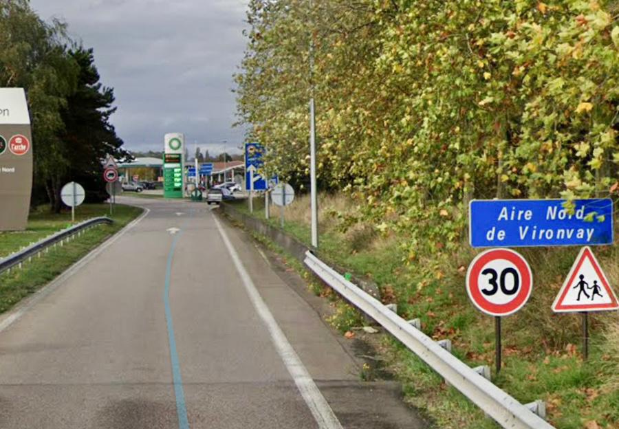 L'accident s'est produit sur l'aire de service de Vironvay, sur l'autoroute A13 - illustration