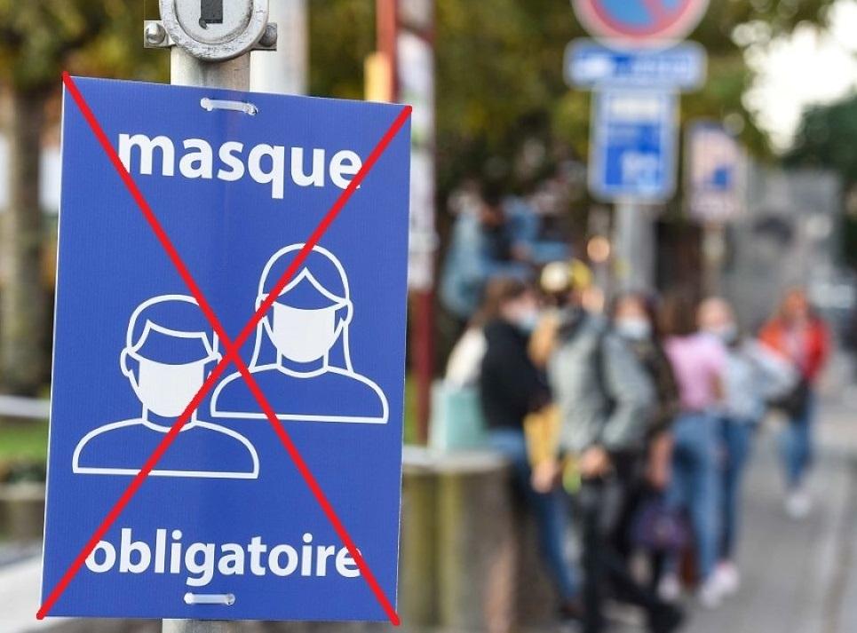 Le port du masque dans la rue ne sera plus obligatoire dès demain, jeudi - Illustration © Adobe