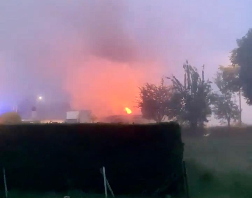 Ce document transmis per un lecteur à infoNormandie illustre la violence de l'incendie