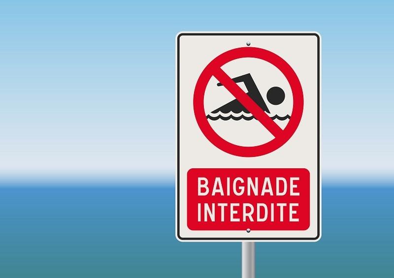 La baignade est interdite jusqu'à nouvel ordre - Illustration © Adobe Stock