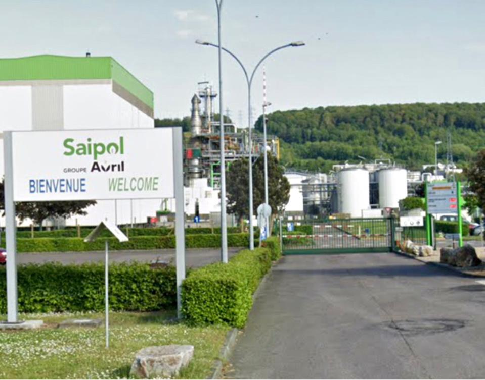 L'usine Saipol produit de l'huile pour carburant et des aliments pour animaux - Illustration © Google Maps