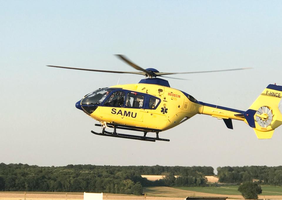 La jeune victime a été évacuée, dans un état grave, par l'hélicoptère du SAMU76 - Illustration © infoNormandie