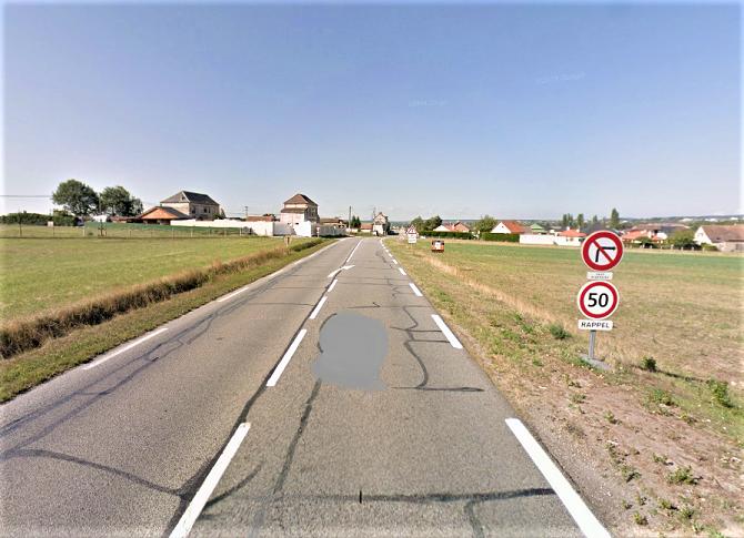 Le corps a été découvert en bordure de la RD321 sur la commune de Criquebeuf-sur-Seine - illustration @ Google maps
