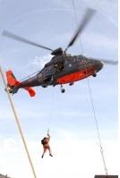 L'hélicoptère de la Marine nationale a participé à l'exercice (Photo Marine nationale)
