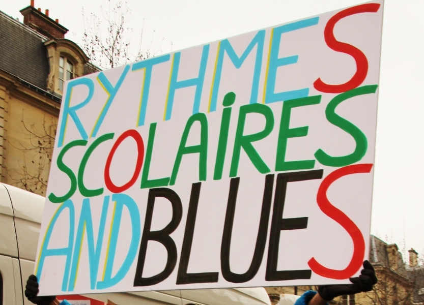 Depuis quelques semaines, les manifestations s'enchaînent en France contre la réforme Peillon (Photo DR)