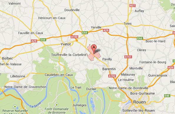 L'incident s'est produit au passage à niveau n°49 sur le CD 63 à Mesnil-Panneville, au nord ouest de Pavilly