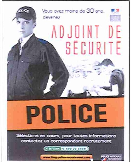 en seine maritime la police nationale recrute des adjoints de s curit. Black Bedroom Furniture Sets. Home Design Ideas