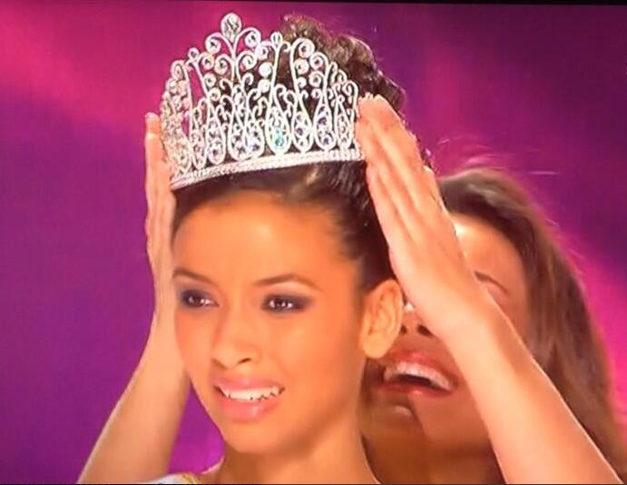 Flora Coquerel, lors de son couronnement samedi soir à Dijon (Capture d'ecran TF1 / Infonormandie)
