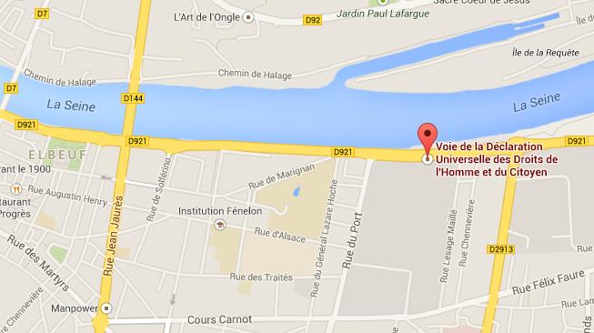 L'accident s'est produit sur la voie de la Déclaration Universelle des Droits de l'Homme (RD921) @Google Maps