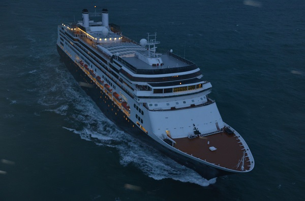 Le passager se trouvait à bord du Rotterdam, un navire à passagers (Photo : PREMAR)