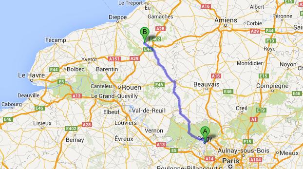 Cergy (Val d'Oise) - Mesnières-en-Bray (Seine-Maritime) : c'est une course-poursuite de plus d'une centaine de kilomètres qui s'est engagée entre la voiture de la BAC et la Clio des suspects