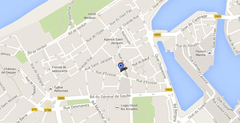 L'incendie s'est déclaré dans un immeuble du centre ville de Dieppe