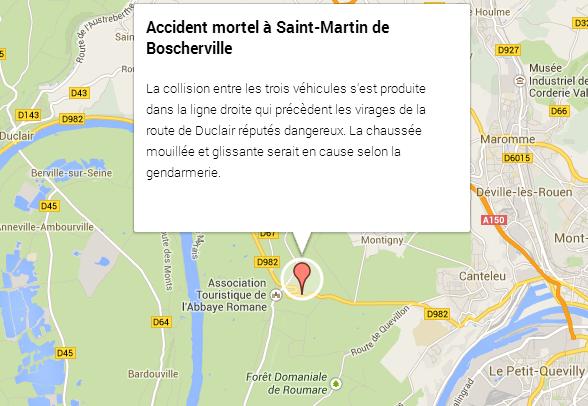Un mort et deux blessés graves dans un accident à Saint-Martin-de-Boscherville